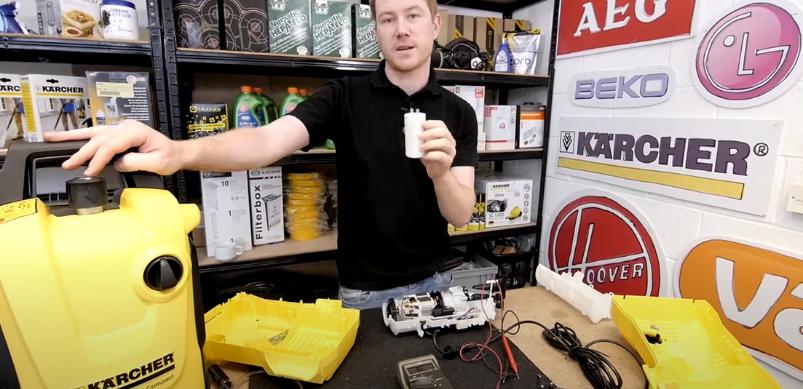 Wie repariere ich den Kondensator am Kärcher Hochdruckreiniger?